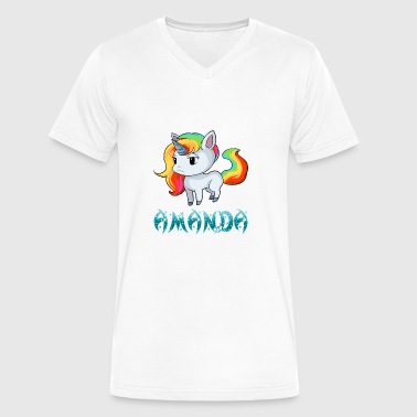 Amanda Amanda Unicorn - Men's V-Neck T-Shirt by Canvas