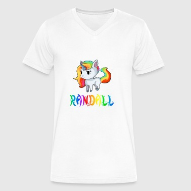 Randall Unicorn - Men's V-Neck T-Shirt by Canvas