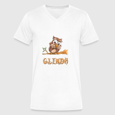 Glinda Glinda Owl - Men's V-Neck T-Shirt by Canvas