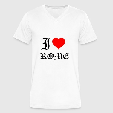 I Love Rome I love Rome - Men's V-Neck T-Shirt by Canvas
