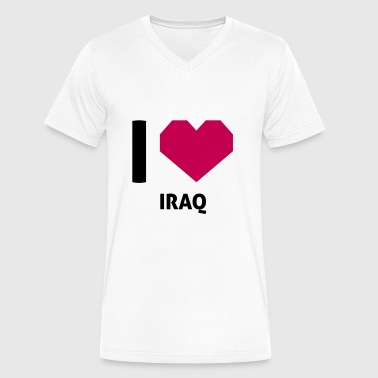 I Love Iraq I Love Iraq - Men's V-Neck T-Shirt by Canvas