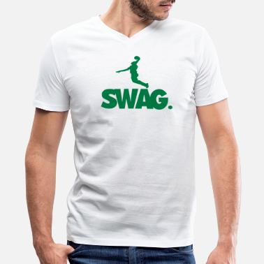 Dope Basketball SWAG BASKETBALL - Men's V-Neck T-Shirt by Canvas