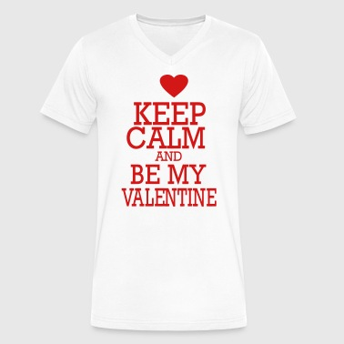 KEEP CALM AND BE MY VALENTINE - Men's V-Neck T-Shirt by Canvas