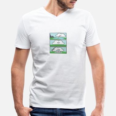 Funny Cycling Funny Rain Cycle gift for Nature Lovers and Camper - Men's V-Neck T-Shirt by Canvas