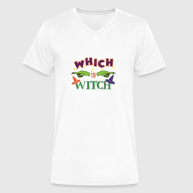 WHICH IS WITCH - Witching Hour - Halloween Design - Men's V-Neck T-Shirt by Canvas