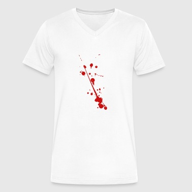 Splash Blood Splatter Halloween Blood Splatter Splash Outfit Costume - Men's V-Neck T-Shirt by Canvas