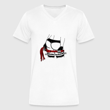Mistress Sadomaso mistress dominatrix whip stockings thong bdsm - Men's V-Neck T-Shirt by Canvas