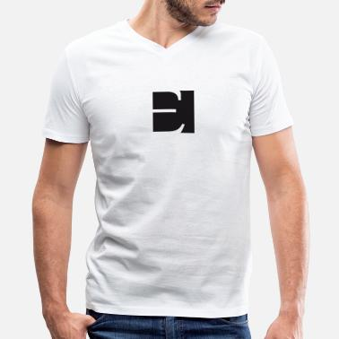 Letter E t shirt with letter E - Men's V-Neck T-Shirt by Canvas