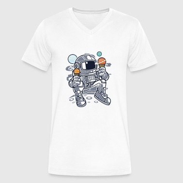 Astronaut Ice Cream - Men's V-Neck T-Shirt by Canvas