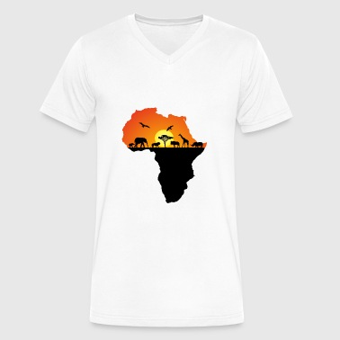 Africa & Wildlife - Men's V-Neck T-Shirt by Canvas