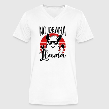 No Drama Llama - Kein Drama Lama - Lustig-Humor - Men's V-Neck T-Shirt by Canvas