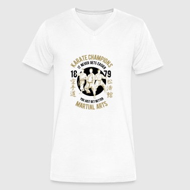 KARATE CHAMPION - Men's V-Neck T-Shirt by Canvas