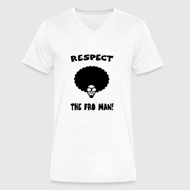 RESPECT AFRO - Men's V-Neck T-Shirt by Canvas