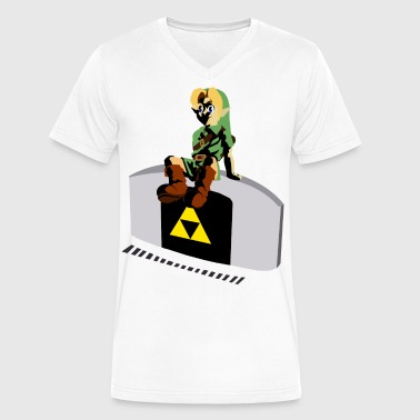 Ocarina Time Into the time - Men's V-Neck T-Shirt by Canvas