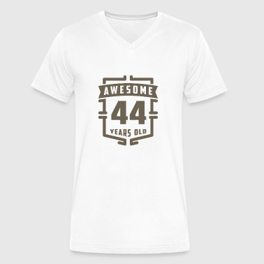44 Years Old Awesome 44 Years Old - Men's V-Neck T-Shirt by Canvas