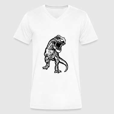 tyrannosaurus rex - Men's V-Neck T-Shirt by Canvas