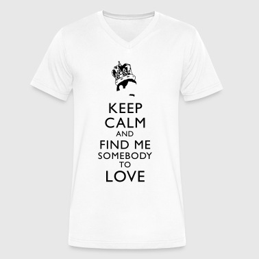Freddy Mercury Freddie Keep Calm - Men's V-Neck T-Shirt by Canvas