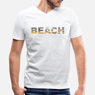Coronado Beach Beach  - Men's V-Neck T-Shirt by Canvas