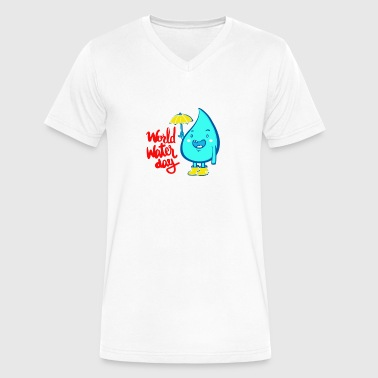 World water day - Men's V-Neck T-Shirt by Canvas