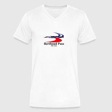 Ski Area Berthoud Pass Ski Area - Men's V-Neck T-Shirt by Canvas