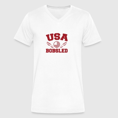 USA bobsled - Men's V-Neck T-Shirt by Canvas