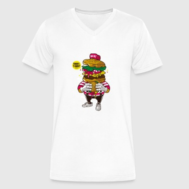 I Love Burger - Men's V-Neck T-Shirt by Canvas