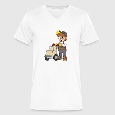 Transportation Company Delivery Service - Men's V-Neck T-Shirt by Canvas