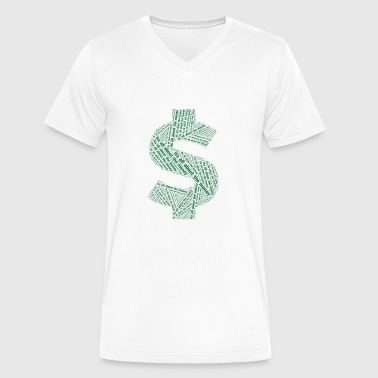 Its all about the money design - Men's V-Neck T-Shirt by Canvas