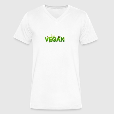 I am VEGAN T-Shirt - Men's V-Neck T-Shirt by Canvas