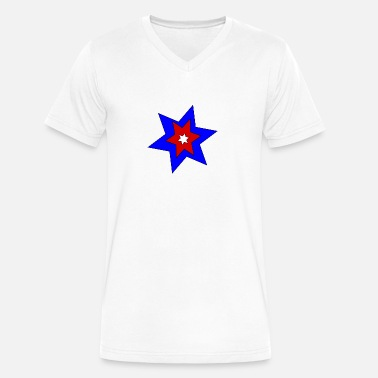 Sterren stars - Men's V-Neck T-Shirt by Canvas