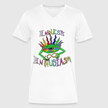 Endless Enthusiasm Logo - Men's V-Neck T-Shirt by Canvas