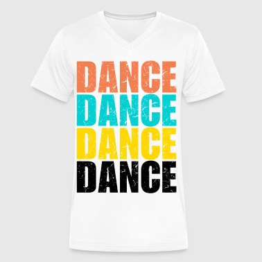 Dance Dance Dance Dance - Men's V-Neck T-Shirt by Canvas