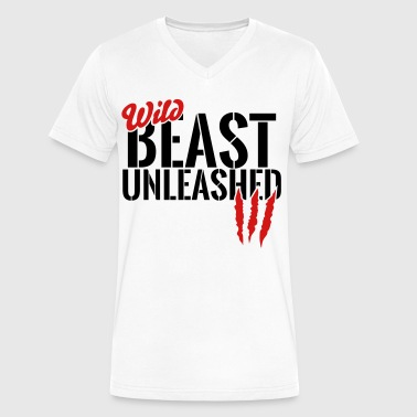 wild beast unleashed - Men's V-Neck T-Shirt by Canvas