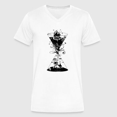 Surreal surreal hourglass -ocean and desert- - Men's V-Neck T-Shirt by Canvas