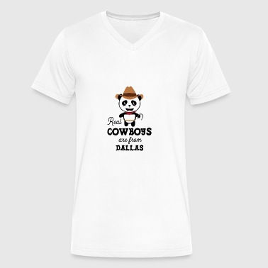 Real Cowboys are from Dallas Gift - Men's V-Neck T-Shirt by Canvas