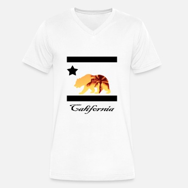 Estampas estampa carlifornia 2 - Men's V-Neck T-Shirt by Canvas