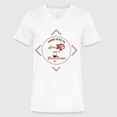 Red wine white wine gift - Men's V-Neck T-Shirt by Canvas