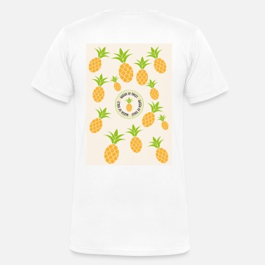 Funny Pineapple pineapple - Men's V-Neck T-Shirt by Canvas