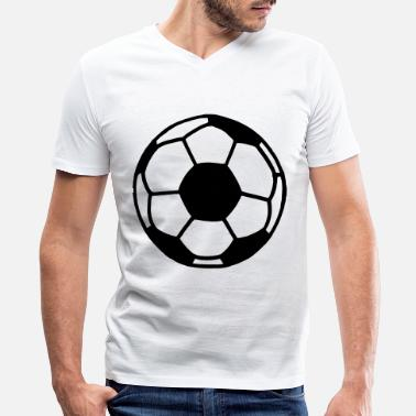 Soccer Ball Soccer Ball - Men's V-Neck T-Shirt