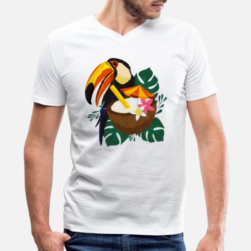 b4842e712 Tukan T-Shirts - Toucan Summer / Sommer / Sonne - Men's V-Neck. Do you want  to edit the design?