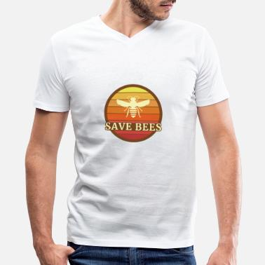 Insect Save Bees - Bee T-Shirt - Men's V-Neck T-Shirt