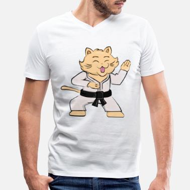 Karate Karate cat - Men's V-Neck T-Shirt