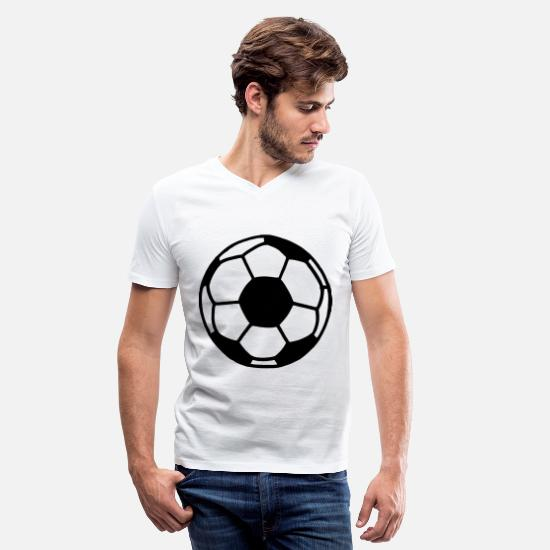 Soccer Ball T-Shirts - Soccer Ball - Men's V-Neck T-Shirt white