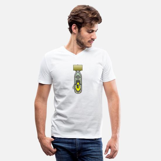 Atomic Bomb T-Shirts - atomic bomb - Men's V-Neck T-Shirt white