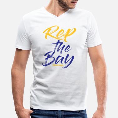 Rep Rep The Bay Golden State - Men's V-Neck T-Shirt by Canvas