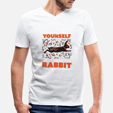Self-confidence Always be yourself, animal rabbit ornament - Men's V-Neck T-Shirt