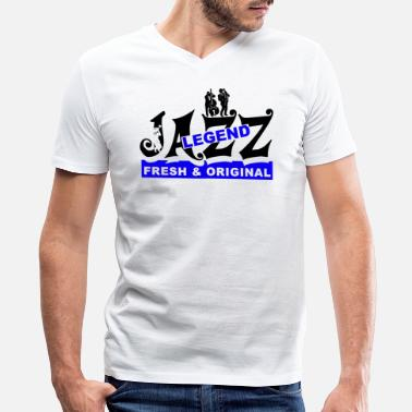 Jazz Jazz Soul Blues Music Musician Rhythm Gift - Men's V-Neck T-Shirt by Canvas