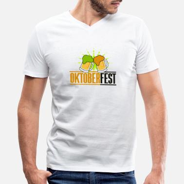 Beer Festival Munich Beer Festival - Oktoberfest - Men's V-Neck T-Shirt by Canvas