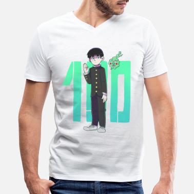 Mobbing Mob Psycho - Men's V-Neck T-Shirt by Canvas