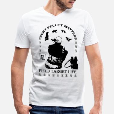 Air Rifle T-shirt Every Pellet Matters Air Rifle Target - Men's V-Neck T-Shirt